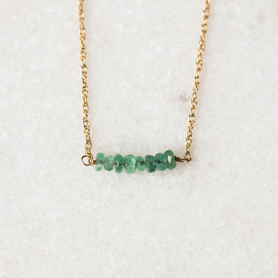 Mint Emerald Bar Bracelet | 14-Karat
