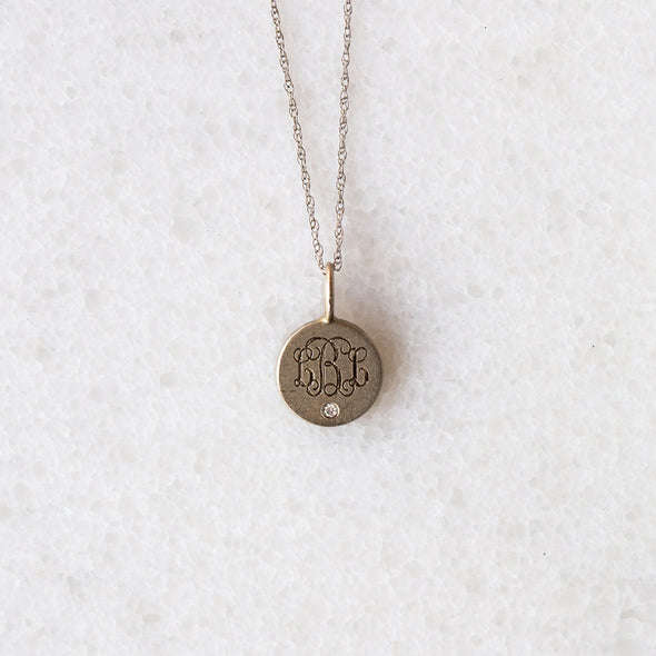 Extra Small Disc with a Diamond Necklace for Baby and Child