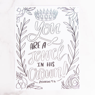 Zechariah 9:16 Coloring Sheet