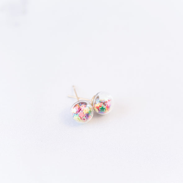 Rainbow | Mini Star Confetti Stud Earrings