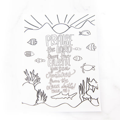 Psalm 148:7 Coloring Sheet
