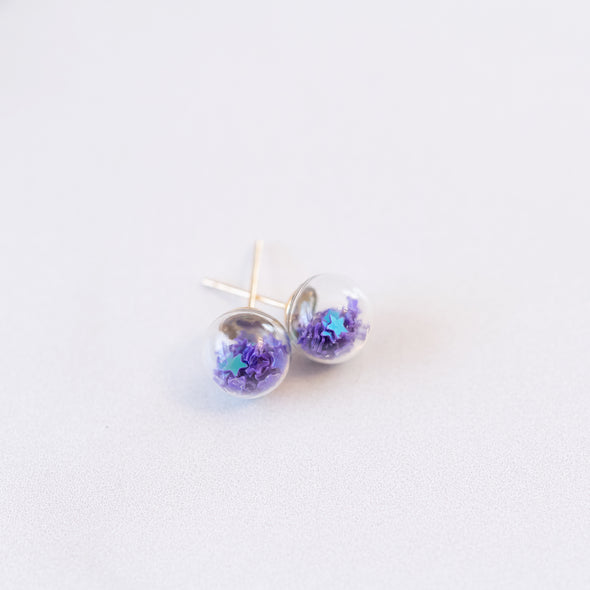 Purple | Mini Star Confetti Stud Earrings