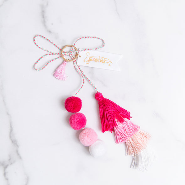 Ombre Pink Pom Tassel