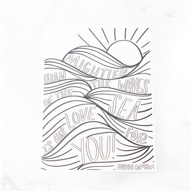Psalm 93:4 Coloring Sheet