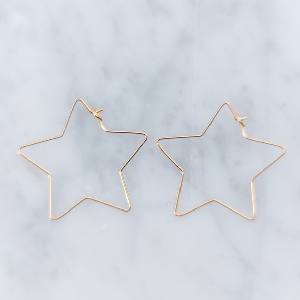 Open Star Earrings