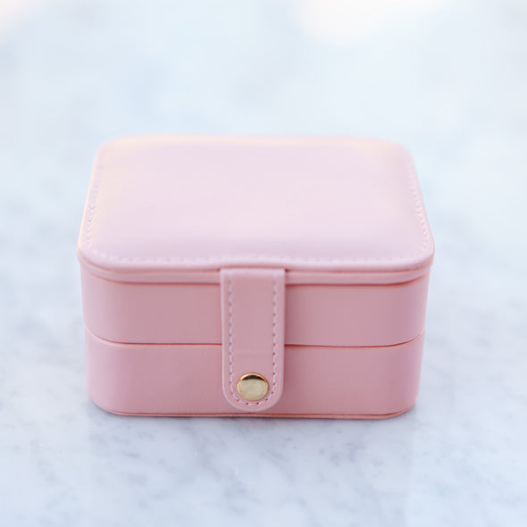 Pink Leather Travel Case