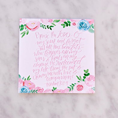 Psalm 103:4 Scripture Card