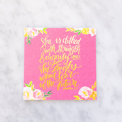 Proverbs 31:25 Scripture Card