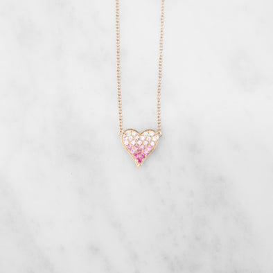 Pink Ombre Heart
