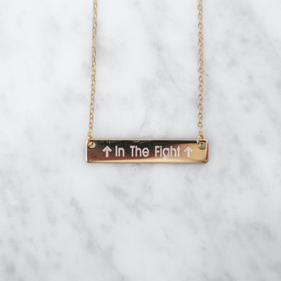 """In the Fight"" Bar Necklace"