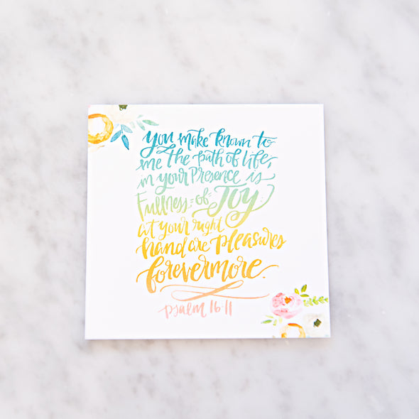 Psalm 16:11 Scripture Card