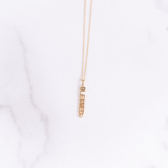 Blessed CZ Necklace
