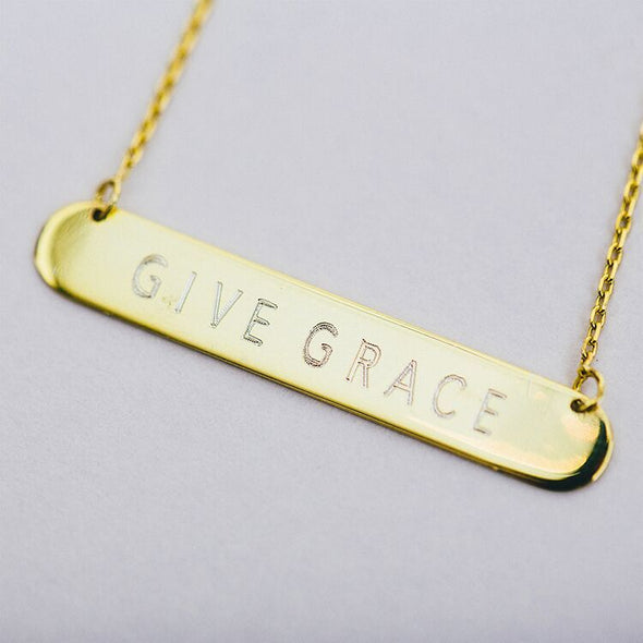 Give Grace Bar Necklace
