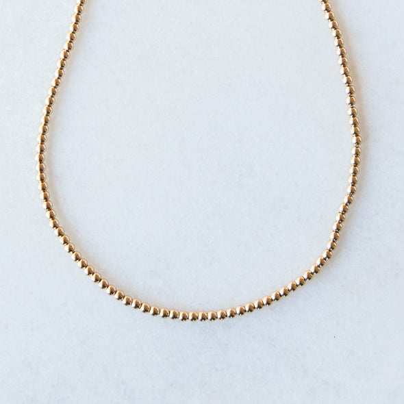 Gold Beaded Necklace for Baby and Child