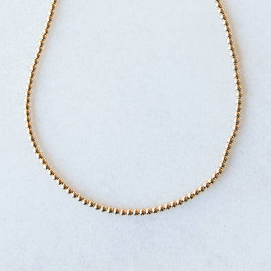 Gold Beaded Necklace | 14-Karat