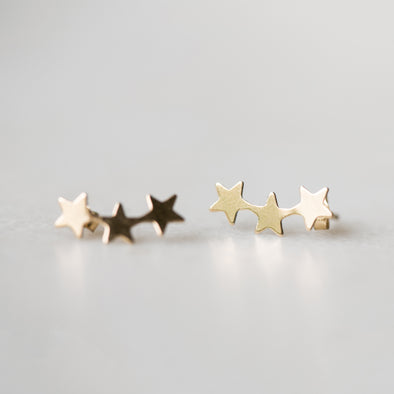 Golden Star Ear Climbers