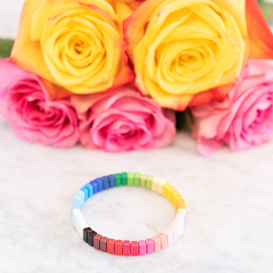 Rainbow Spectrum Tile Bracelet