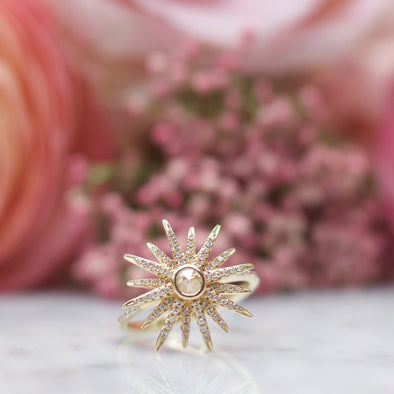 Diamond Starburst Ring | 14-Karat