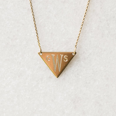 Initial Shield Necklace | 14-Karat