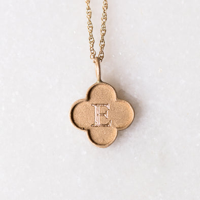 Large Edge Clover | 14-Karat