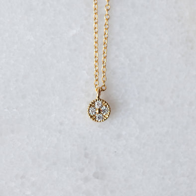 Mini CZ Cluster Necklace