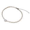 Diamond Disc Leather Choker | 14-Karat