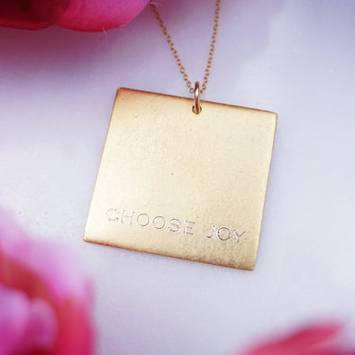 Choose Joy Square Necklace