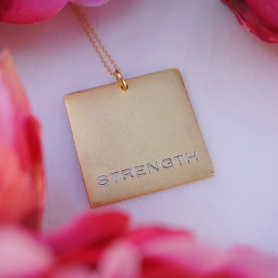 Strength Square Necklace
