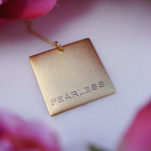 Fearless Square Necklace