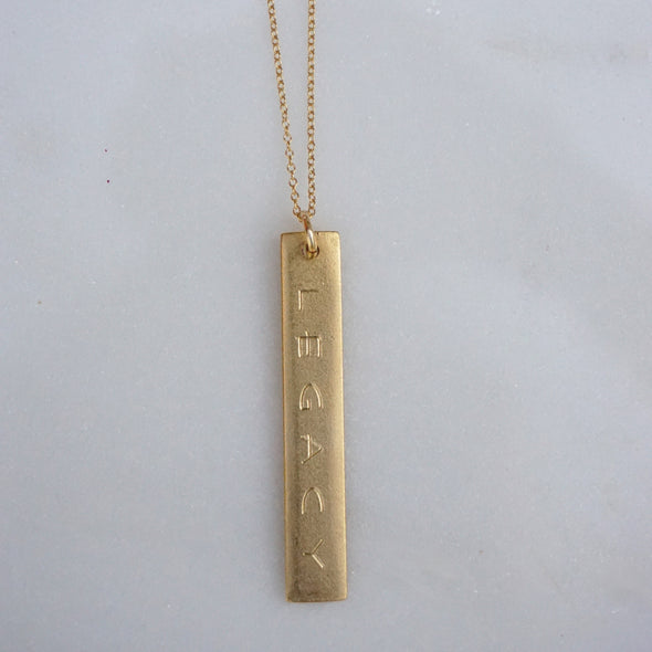 Elongated Rectangle Legacy Necklace