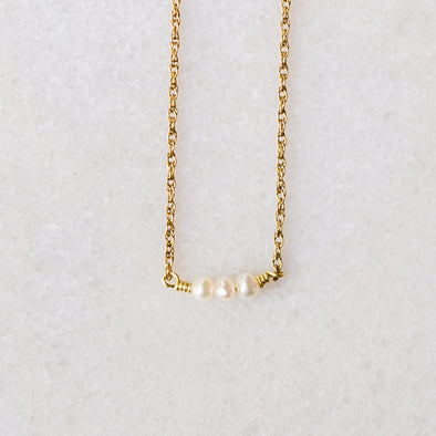 Pearl Splash Bar Necklace for Baby and Child