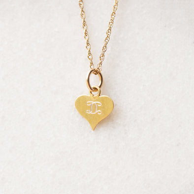 Petite Heart Necklace for Baby and Child