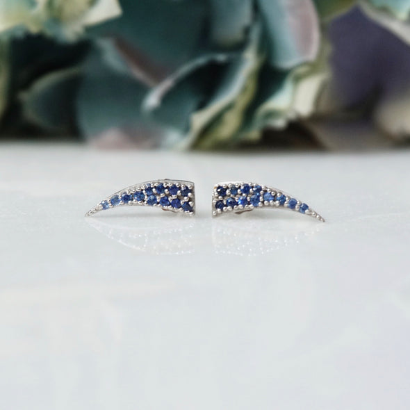 Sapphire Stud Earrings | Sample Sale