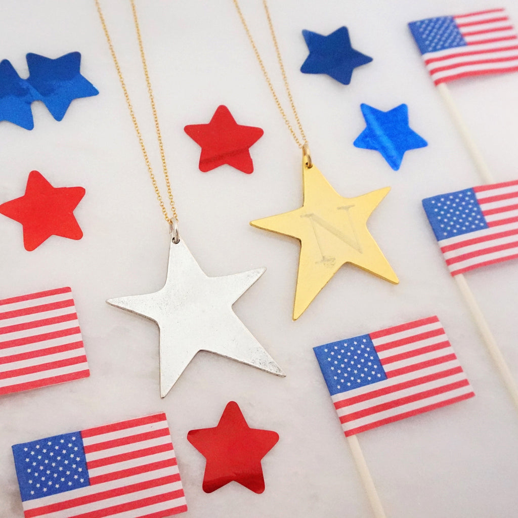 Antique Large Star Necklace