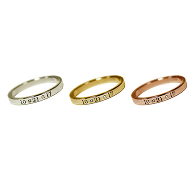 Signature Personalized Diamond Band with Dates | 14-Karat