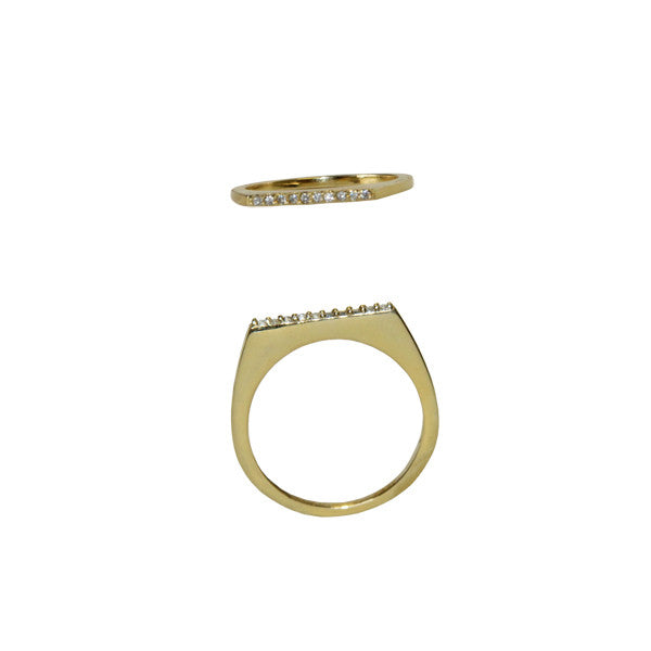 CZ Bar Ring