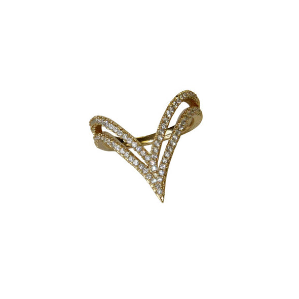 "Ritzy Double ""V"" Ring"