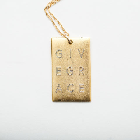 Give Grace Necklace