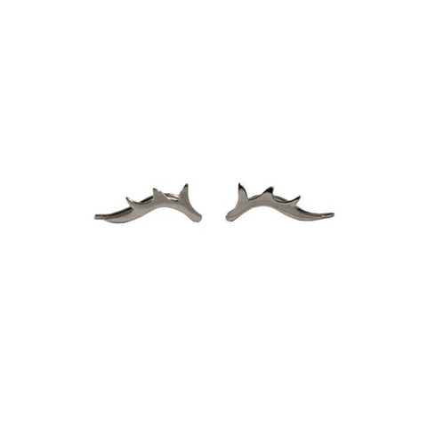 Sterling Silver Antler Ear Crawlers | 14-Karat