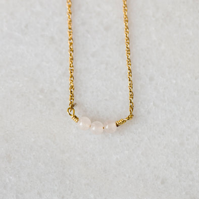Blush Pink Splash Bar Necklace for Baby and Child