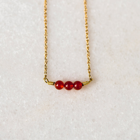 Crimson Splash Necklace
