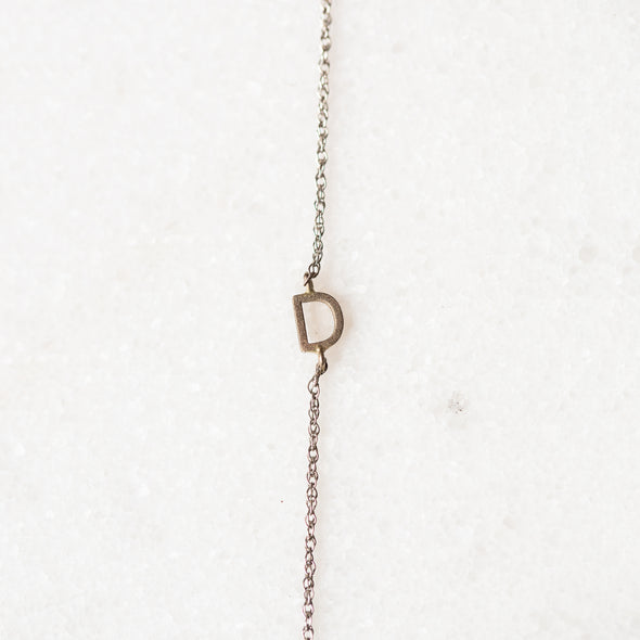 Tiny Sideways Initial Bracelet for Baby and Child