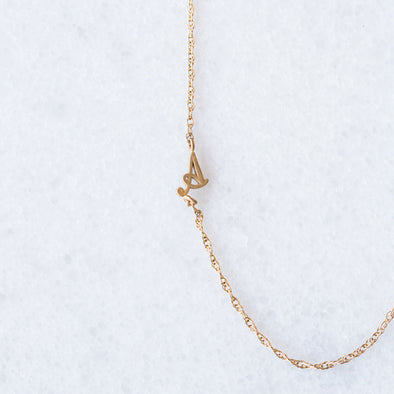 Sideways Initial Necklace | 14-Karat