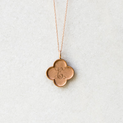Small Edge Clover | 14-Karat