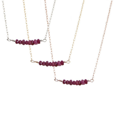 Ruby Bar Necklace | 14-Karat