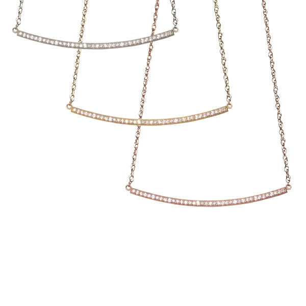 Diamond Bar Necklace | 14-Karat