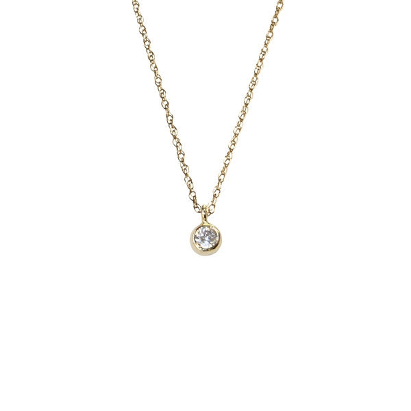 Mini CZ Solitaire Necklace