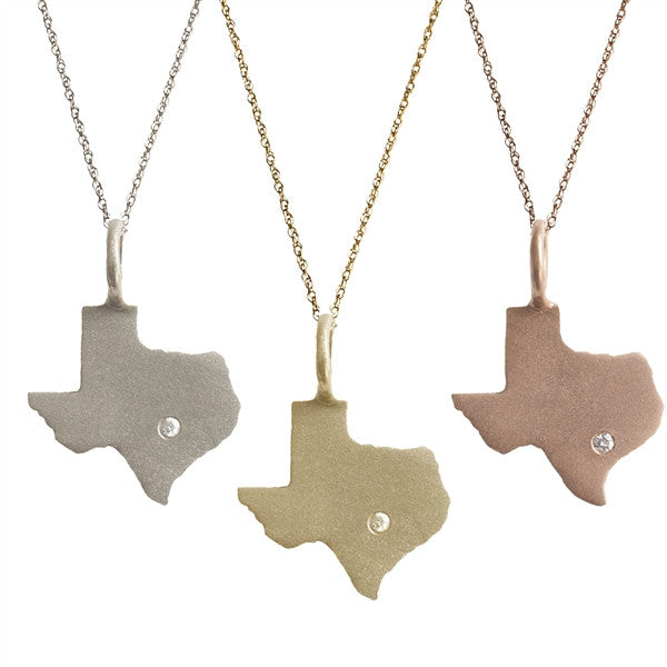State of Texas with a Diamond | 14-Karat