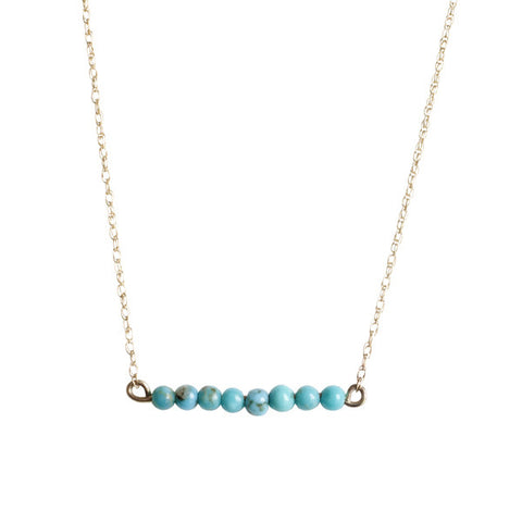 Turquoise Bar Necklace for Baby and Child