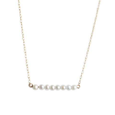 Pearl Bar Necklace for Baby and Child